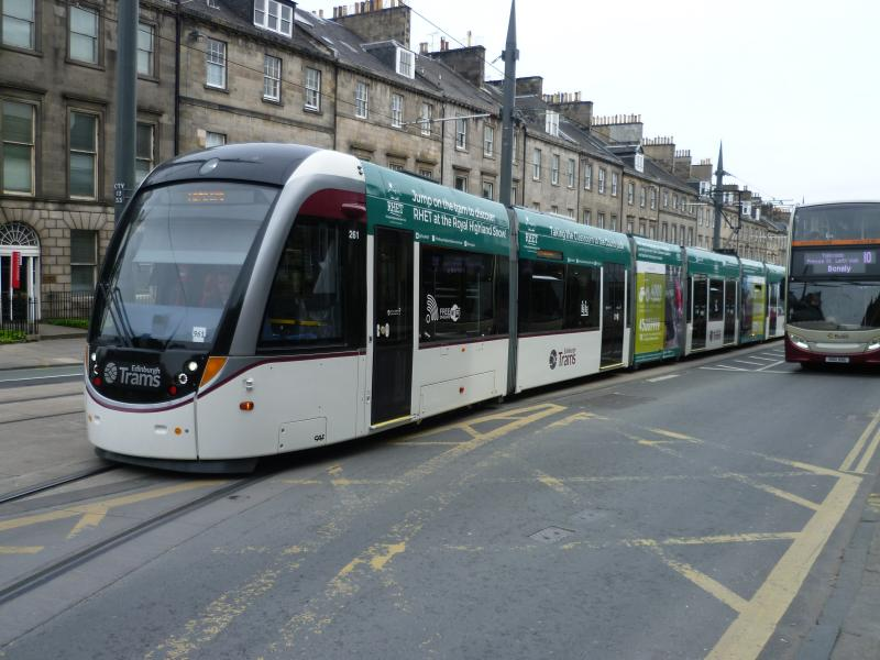 Edinburgh Trams 261 Trampede