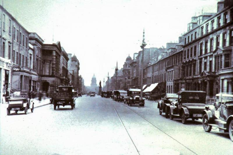 Edinburgh Trams George Street 1920
