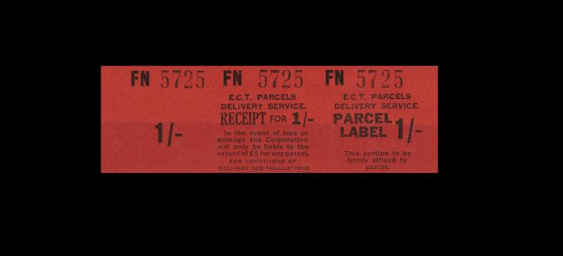 Edinburgh Corporation Trams - Parcels Ticket